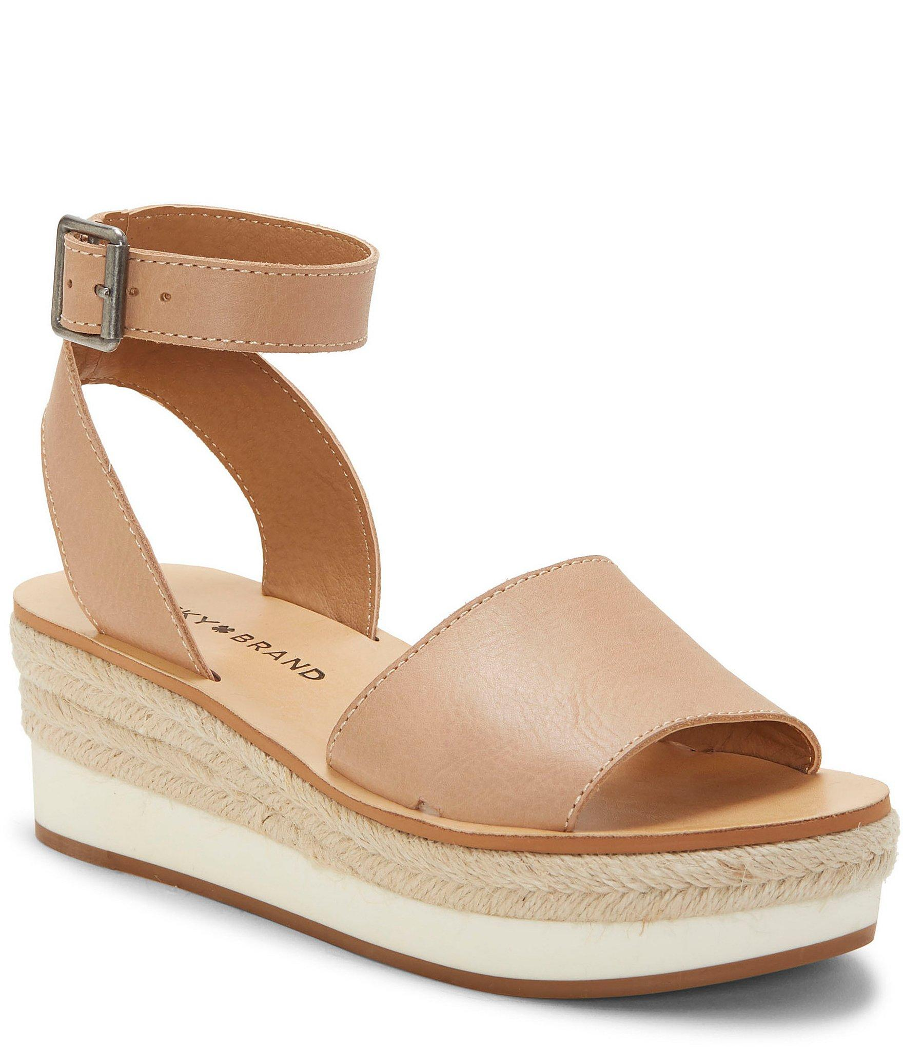ffb0902bed1 Lucky Brand Joodith Espdarille Wedge Sandals - Lyst