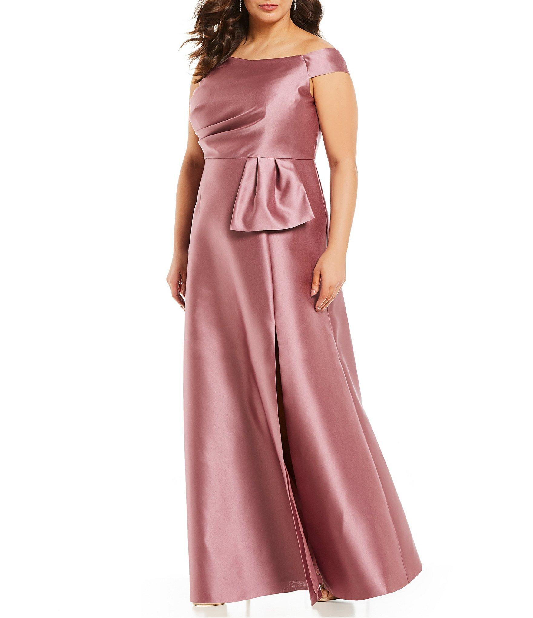 7f9ae71b9710f Lyst - Adrianna Papell Plus Size Off-the-shoulder Mikado Gown in ...