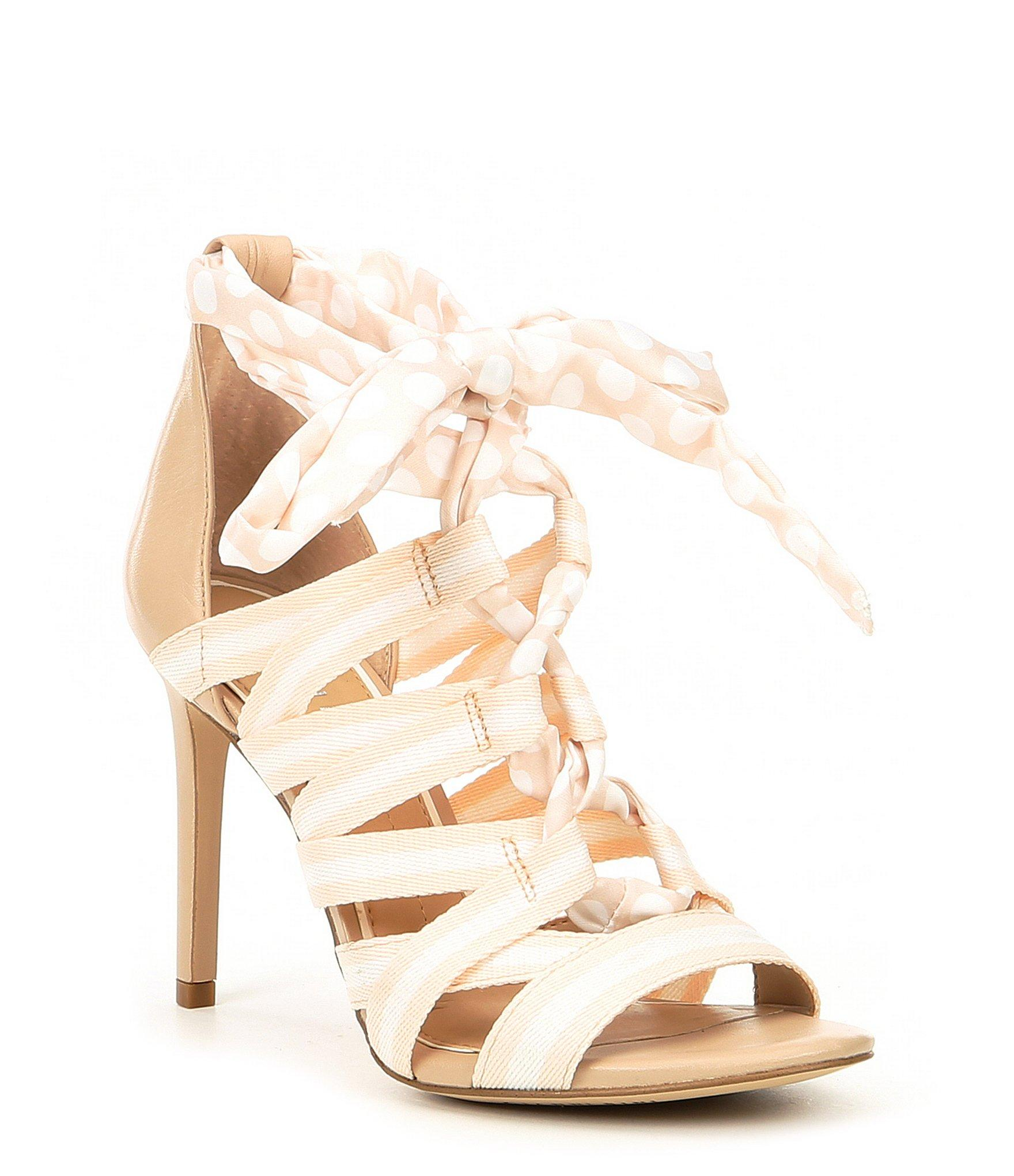 8fb717312e Gianni Bini Abrianna Printed Lace-up Dress Sandals in Natural - Lyst