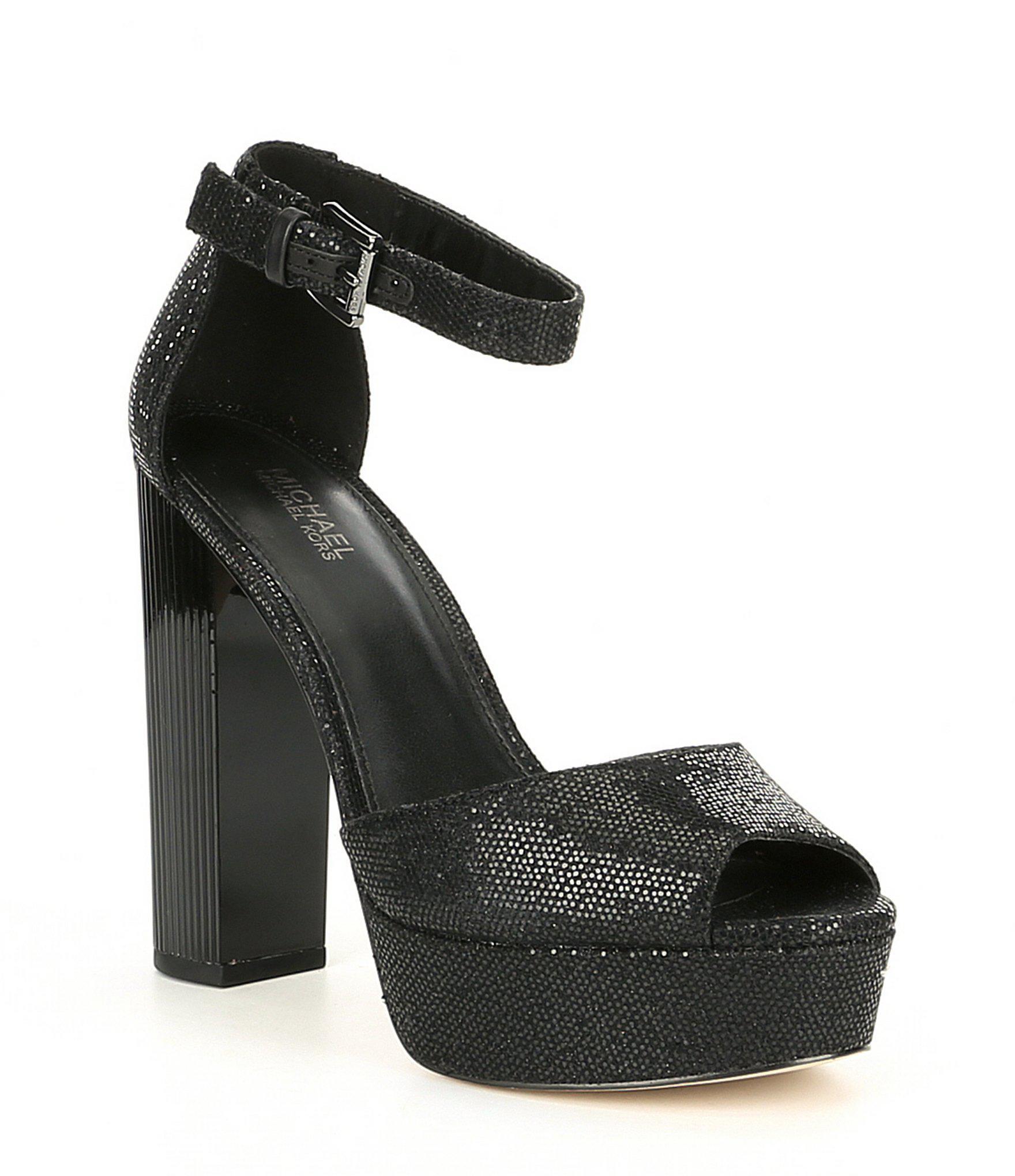 f70a6f7dd890 MICHAEL Michael Kors Paloma Platform Dress Sandals in Black - Lyst