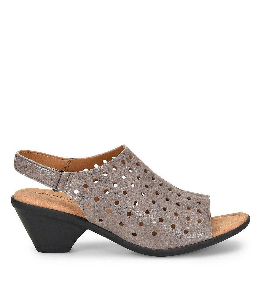 Comfortiva Fern Foil Suede Slingback Sandals AFlfTvCNaZ