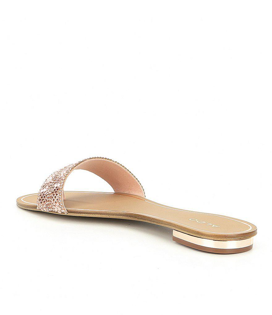 Cadilinna Embellished Thong Slide Sandals UTgdm8z