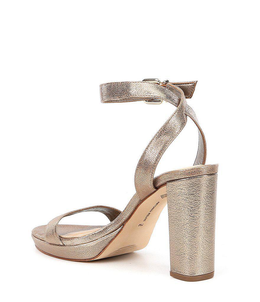Sarita Metallic Leather Platform Dress Sandals ek73Q