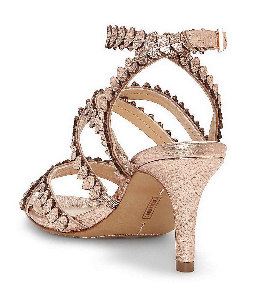 Yuria Metallic Strappy Dress Sandals 1aTkUBx7