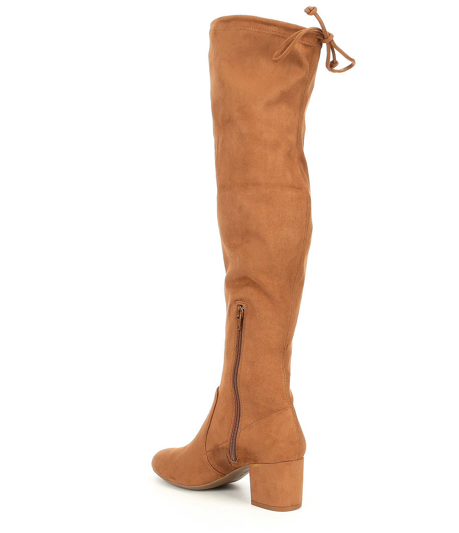 39151b1f6fa Lyst - Gianni Bini Trillia Block Heel Stretch Over The Knee Boots in ...