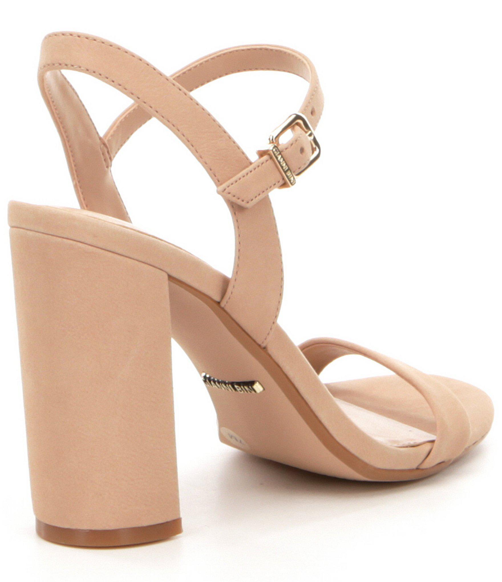72fa474caa5 Gianni Bini - Pink Mckaria Block Heel Dress Sandals - Lyst. View fullscreen