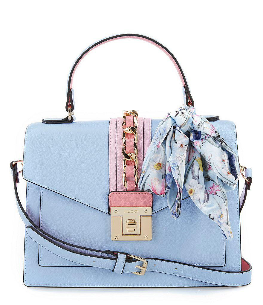 98581211f ALDO Glendaa Small Top Handle Handbag in Blue - Lyst