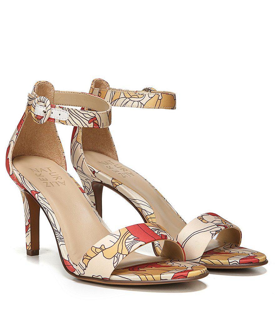 Kinsley Papaya Print Ankle Strap Dress Sandals XO6F67ZF