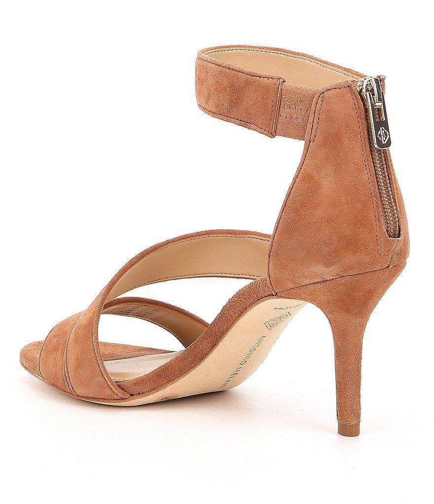 Jaydyn Banded Suede Dress Sandals 4TQ69