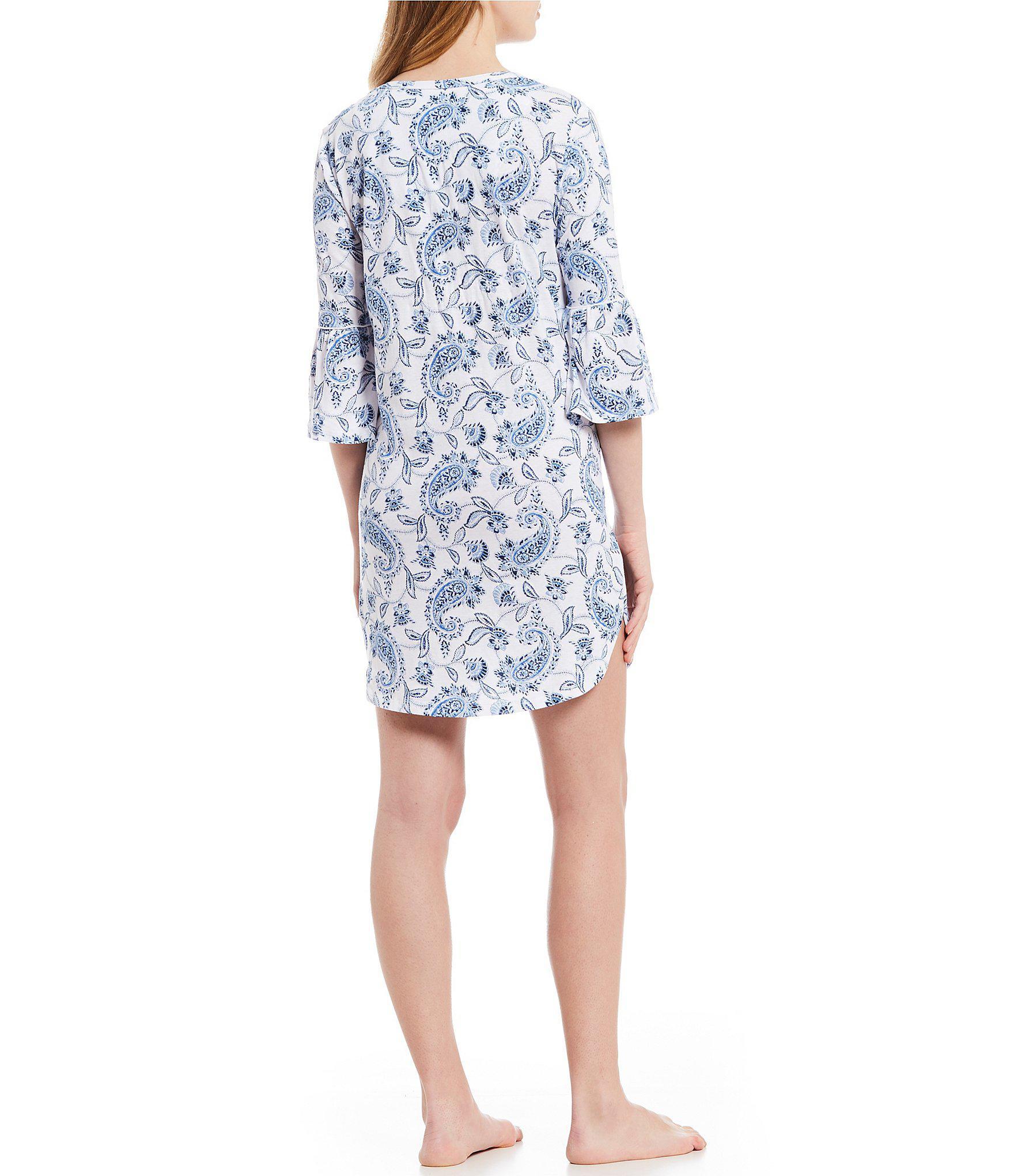 2e32d99884 Lyst - Lauren By Ralph Lauren Petite Paisley-print Jersey Knit ...