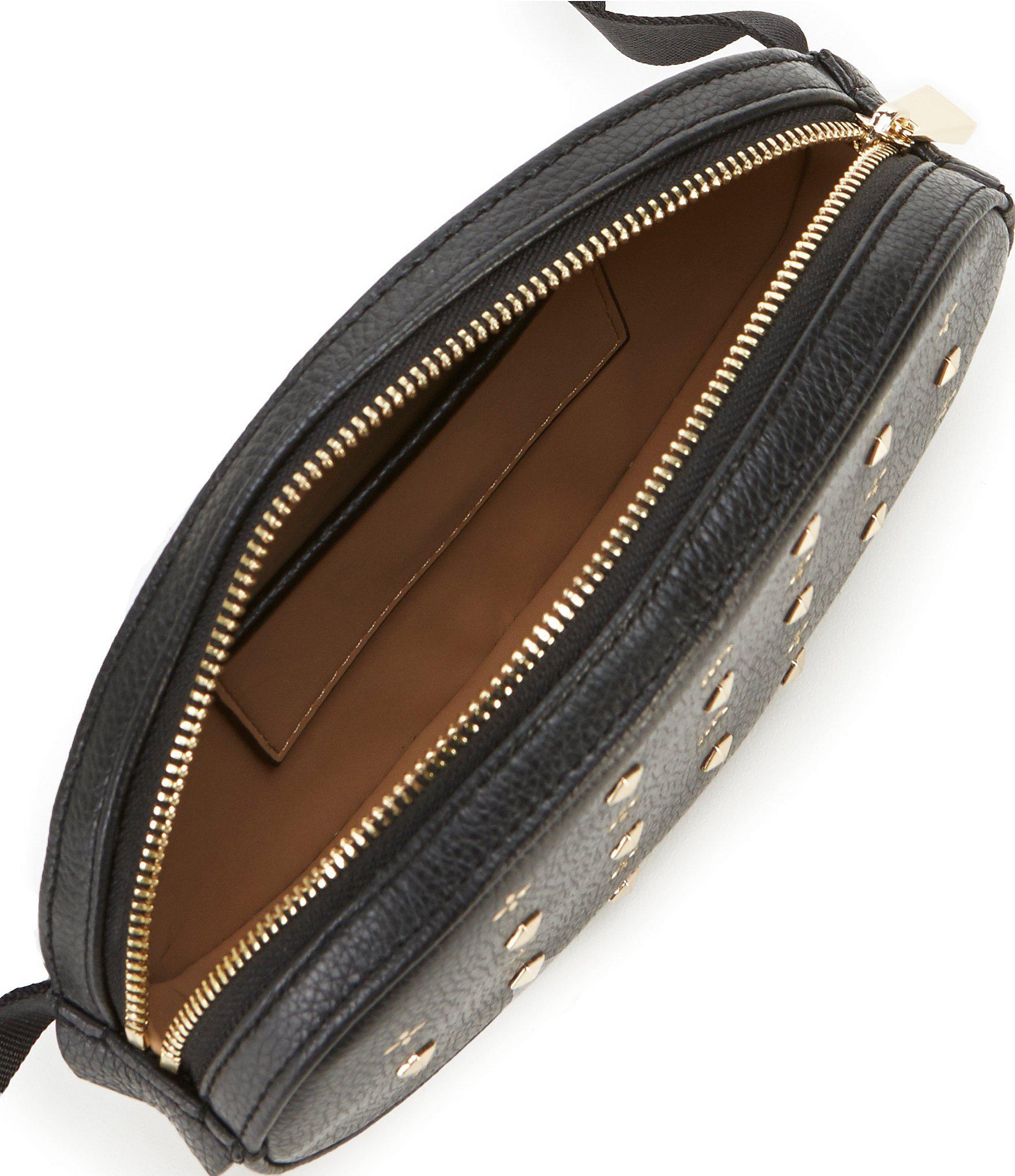Michael Kors - Black Studded Oval Belt Bag - Lyst. View fullscreen ab36341819d08