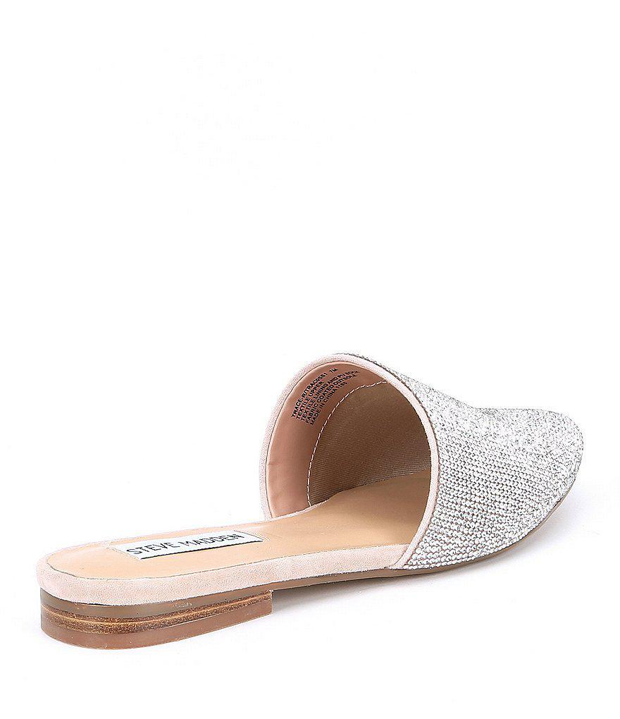 Steve Madden Trace Rhinestone Embellished Jeweled Slip-On Mules O7b6jbH