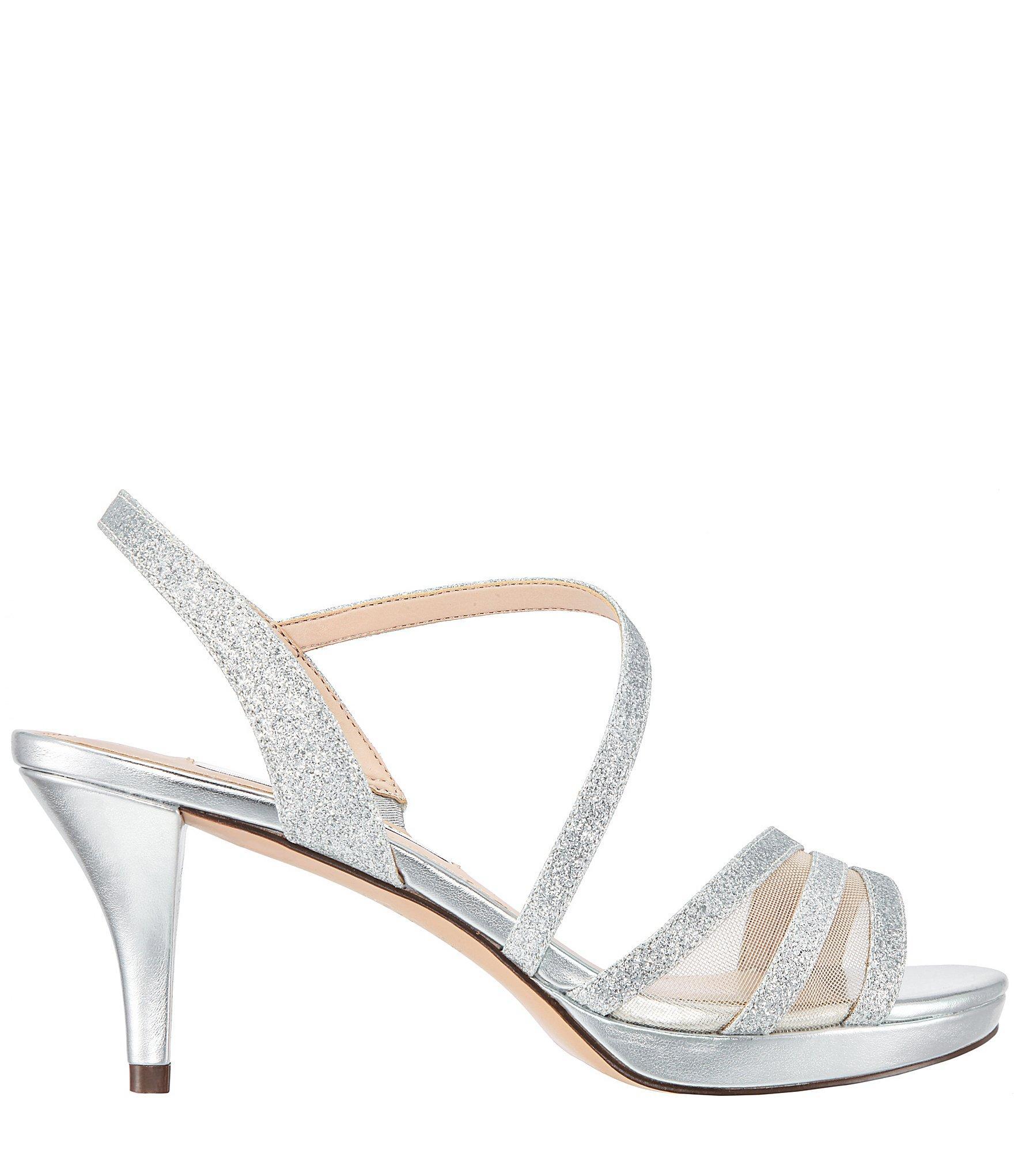 b704bed294b Nina - Metallic Nazima Glitter Strappy Dress Sandals - Lyst. View fullscreen