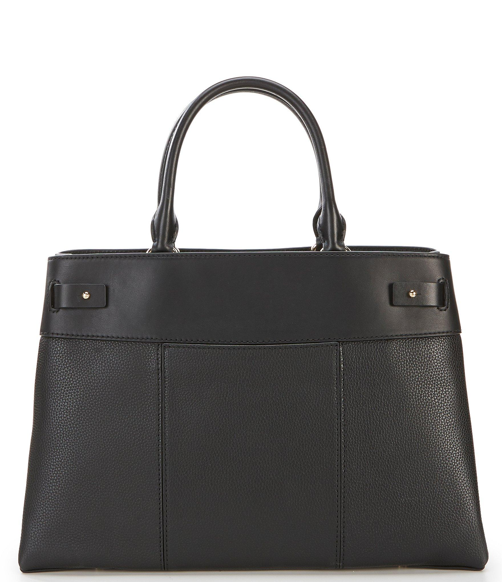 34390c53dc50 Michael Kors - Black Michael Gramercy Polished Leather Satchel - Lyst. View  fullscreen
