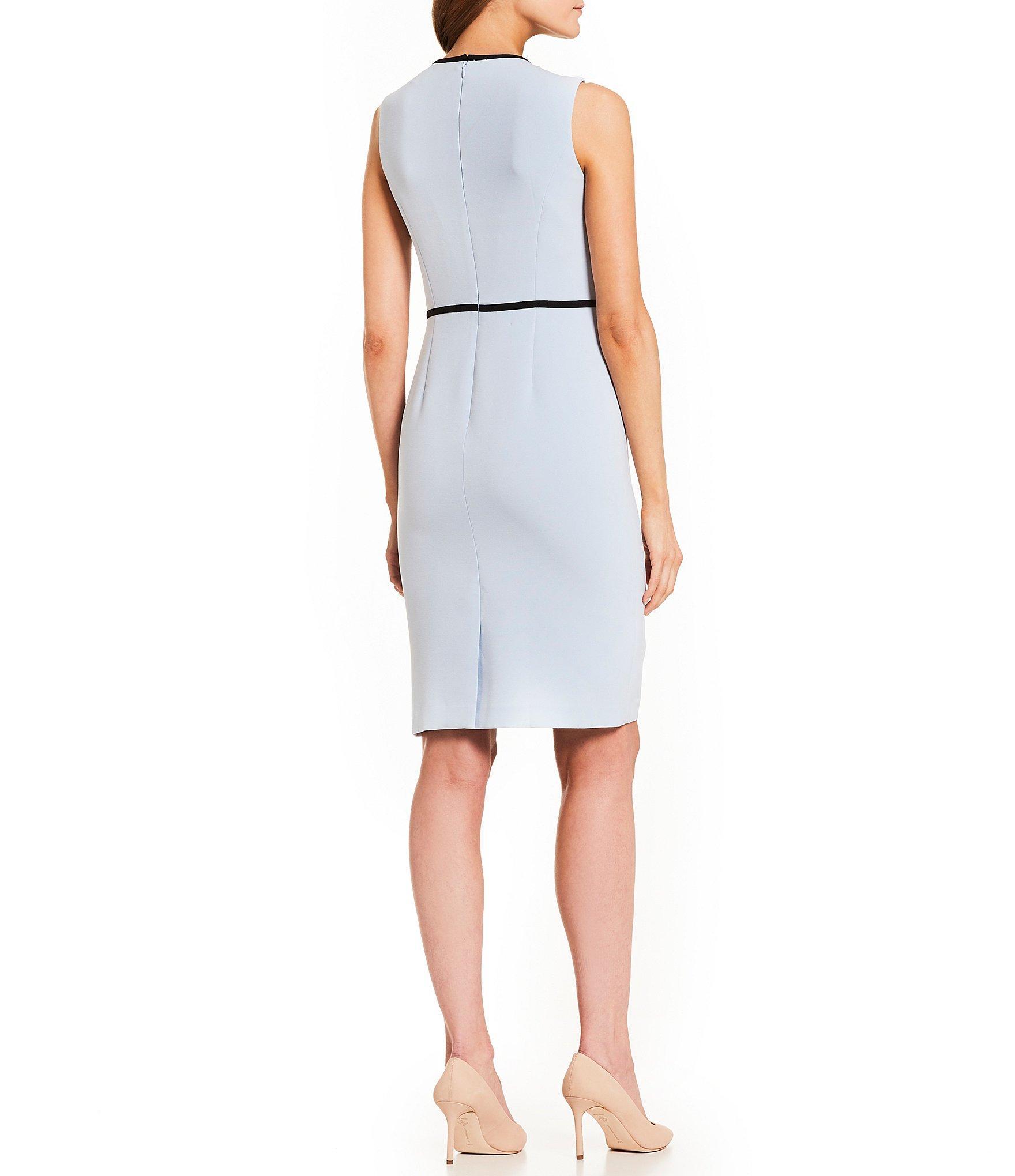 d8e4a0057c9 Kasper Plus Sleeveless Sheath Dress in Blue - Save 47% - Lyst