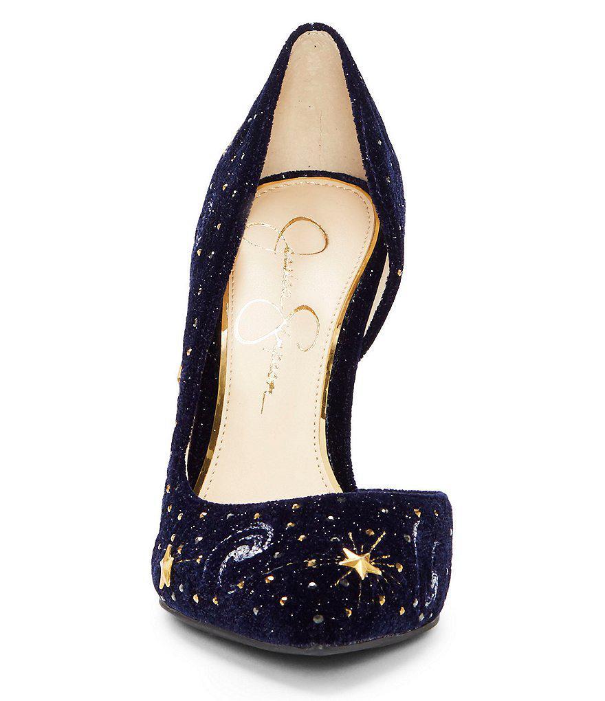 Jessica Simpson Celestial Lucina4 Velvet Jeweled Pumps FD9cu