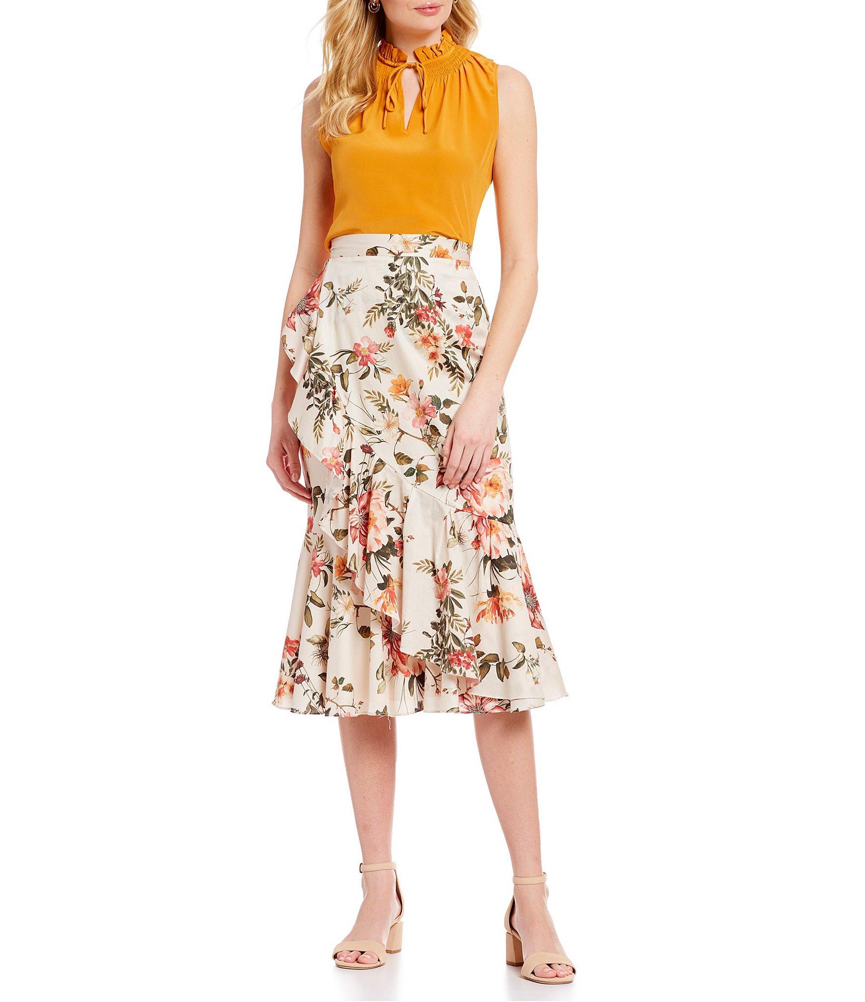 bf2fd354eb1b1 Antonio Melani - Multicolor Susan Smocked High Ruffle Neck Sleeveless Blouse  - Lyst. View fullscreen