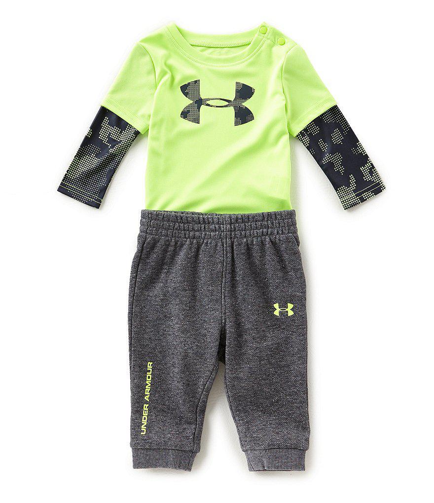 672bfc309 Under Armour Newborn-12 Months Two-fer Bodysuit   Pant Set for Men ...