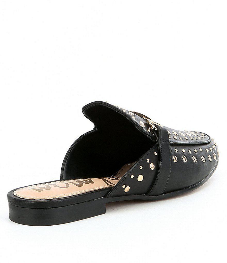 67a7d2df99a1 Lyst - Sam Edelman Marilyn Leather Studded Mules in Black