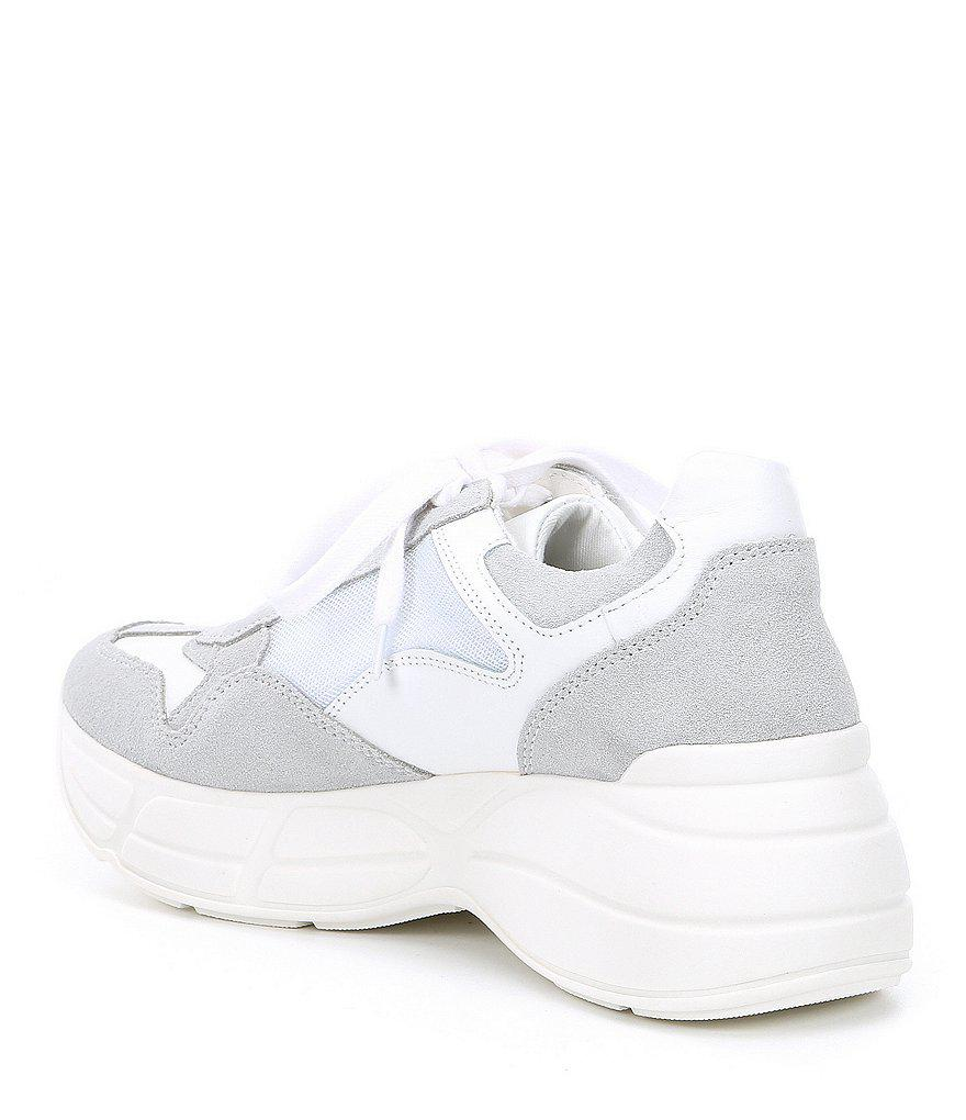 Memory Leather Color Block Sneakers QqP8o