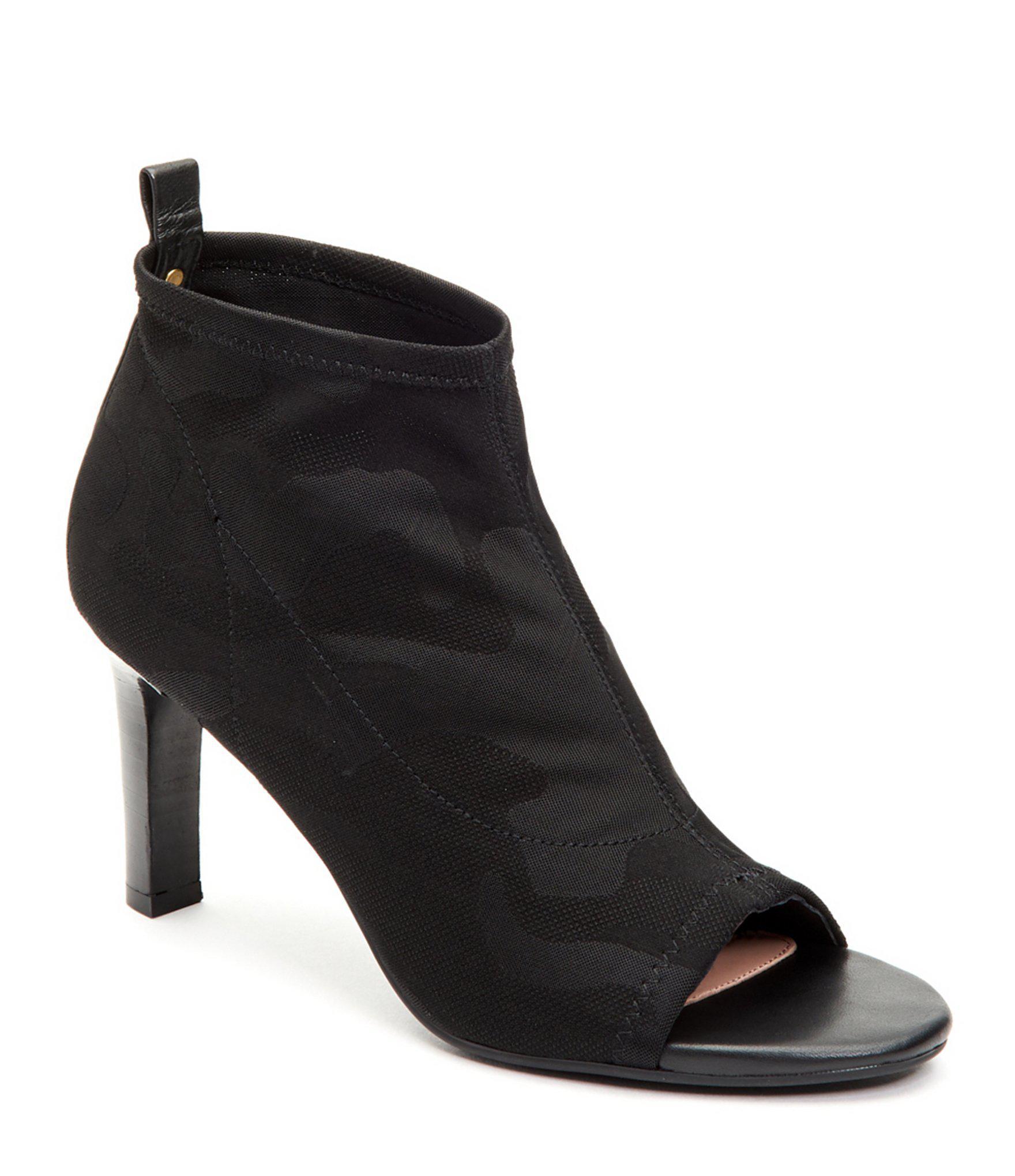 6851db9e77d9 Lyst - Taryn Rose Helene Camo Jacquard Booties in Black - Save 30%