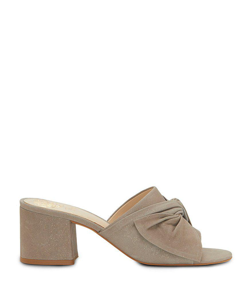 Sharrey Metallic Detail Block Heel Dress Mules u4skgl