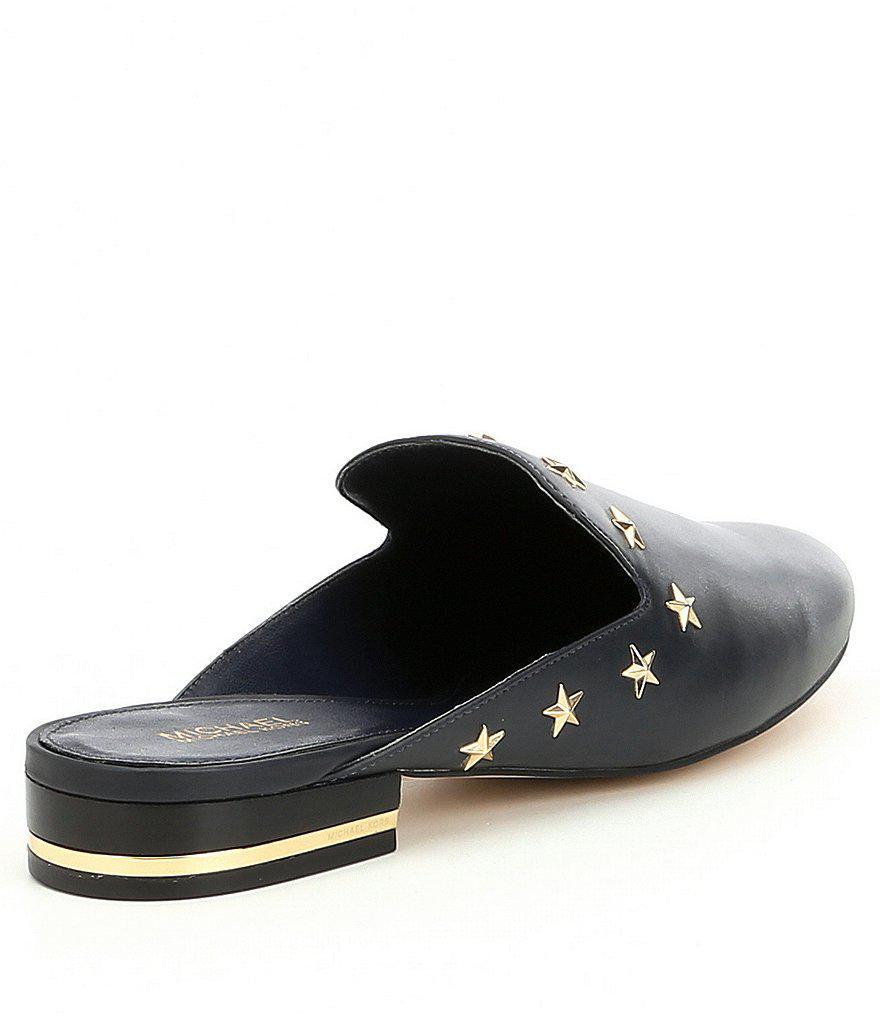 f2033e72f547 Lyst - MICHAEL Michael Kors Natasha Star Studded Slide Mules in Black