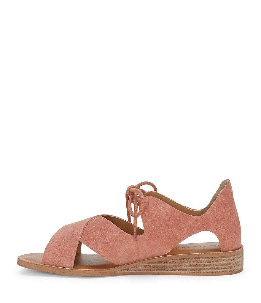 Hafsa Tie Front Wedge Sandals OUFxq