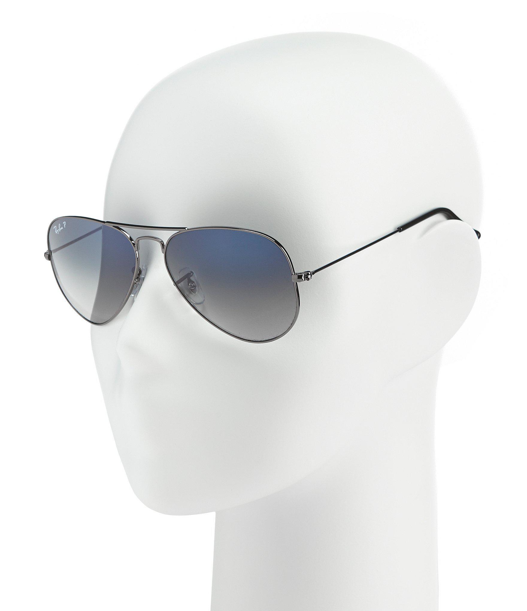 e5e76add70d Ray-Ban - Metallic Polarized Metal Uv Protection Aviator Sunglasses for Men  - Lyst. View fullscreen