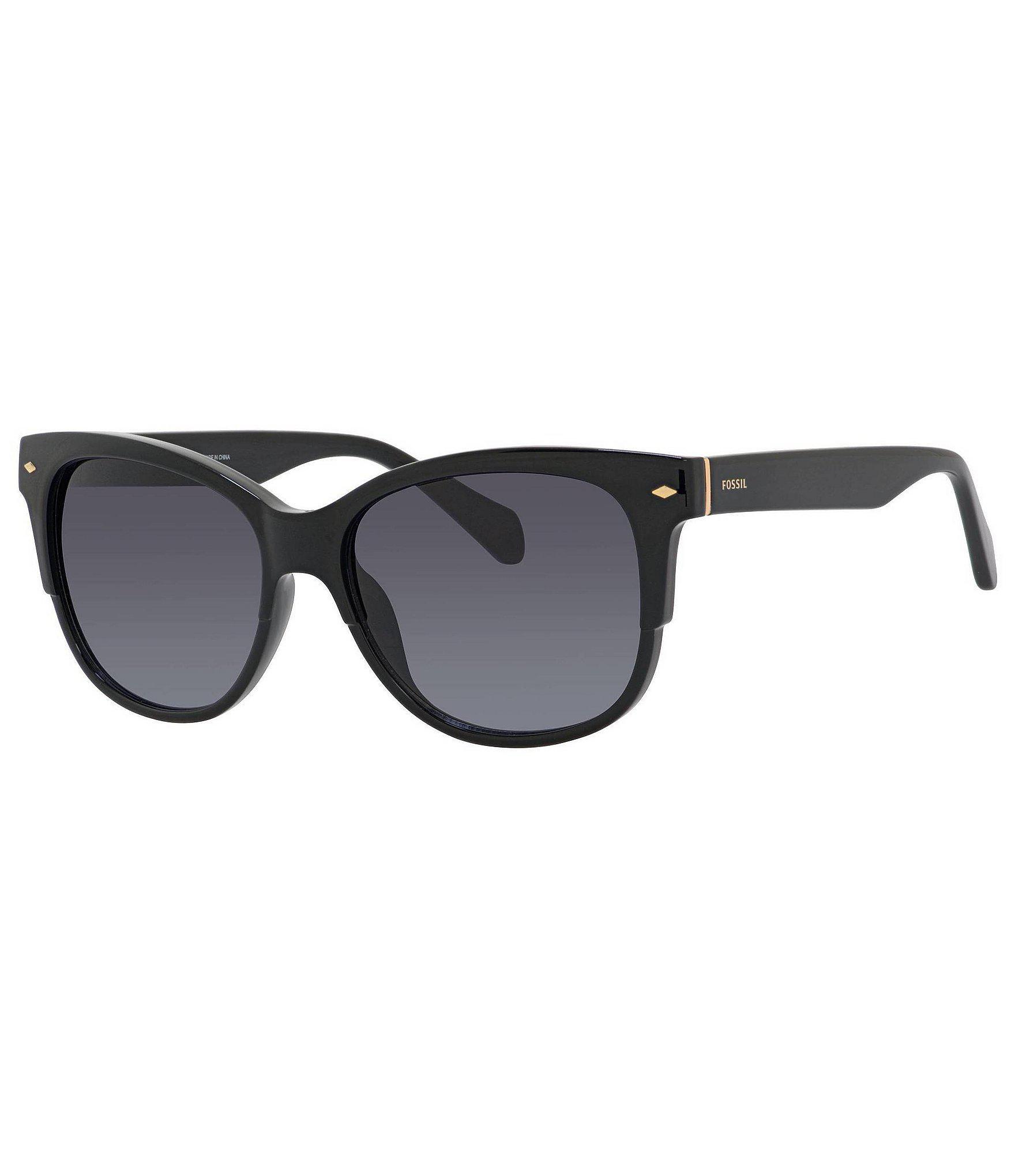 6fa0dee3c9 Fossil - Black Retro Rectangular Sunglasses - Lyst. View fullscreen