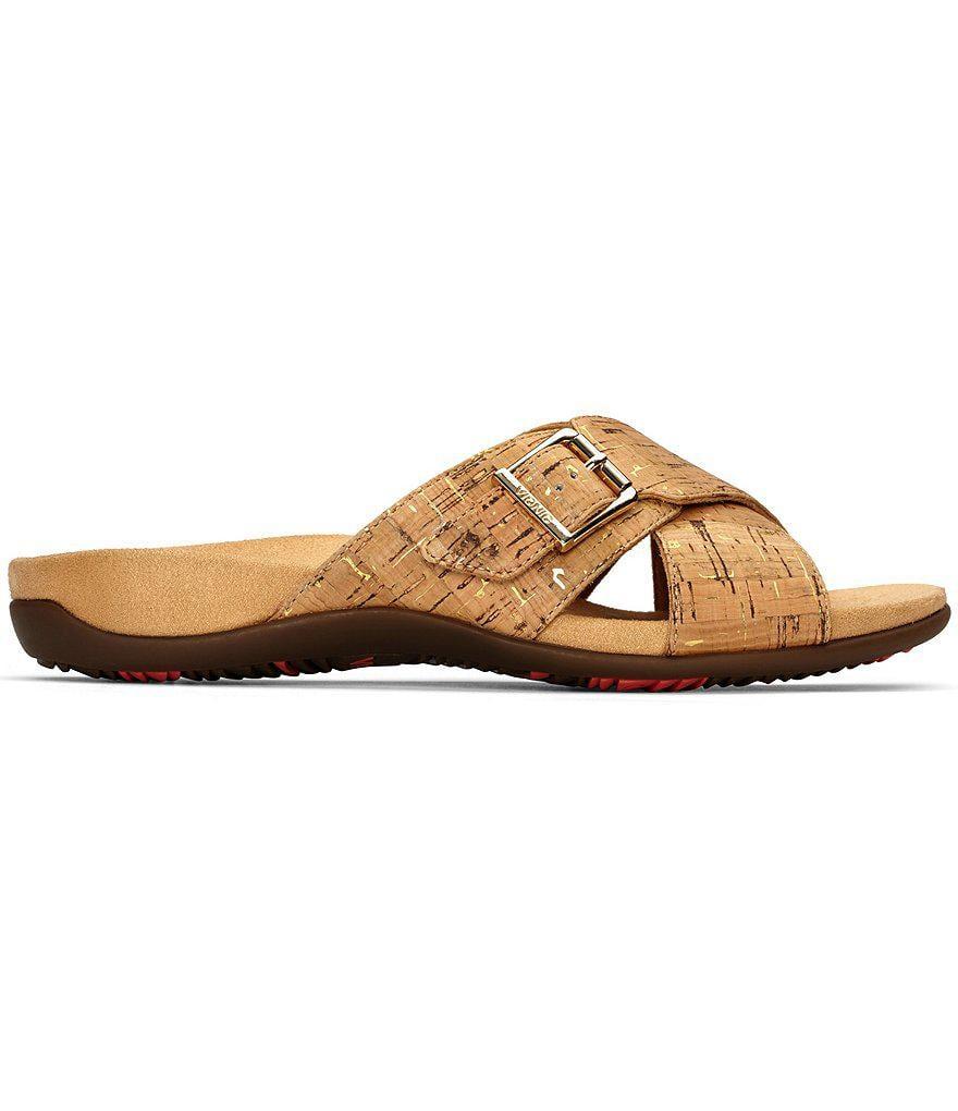 Vionic Rest Dorie Cork Criss Cross Banded Slide On Sandals uXwkn8DEd