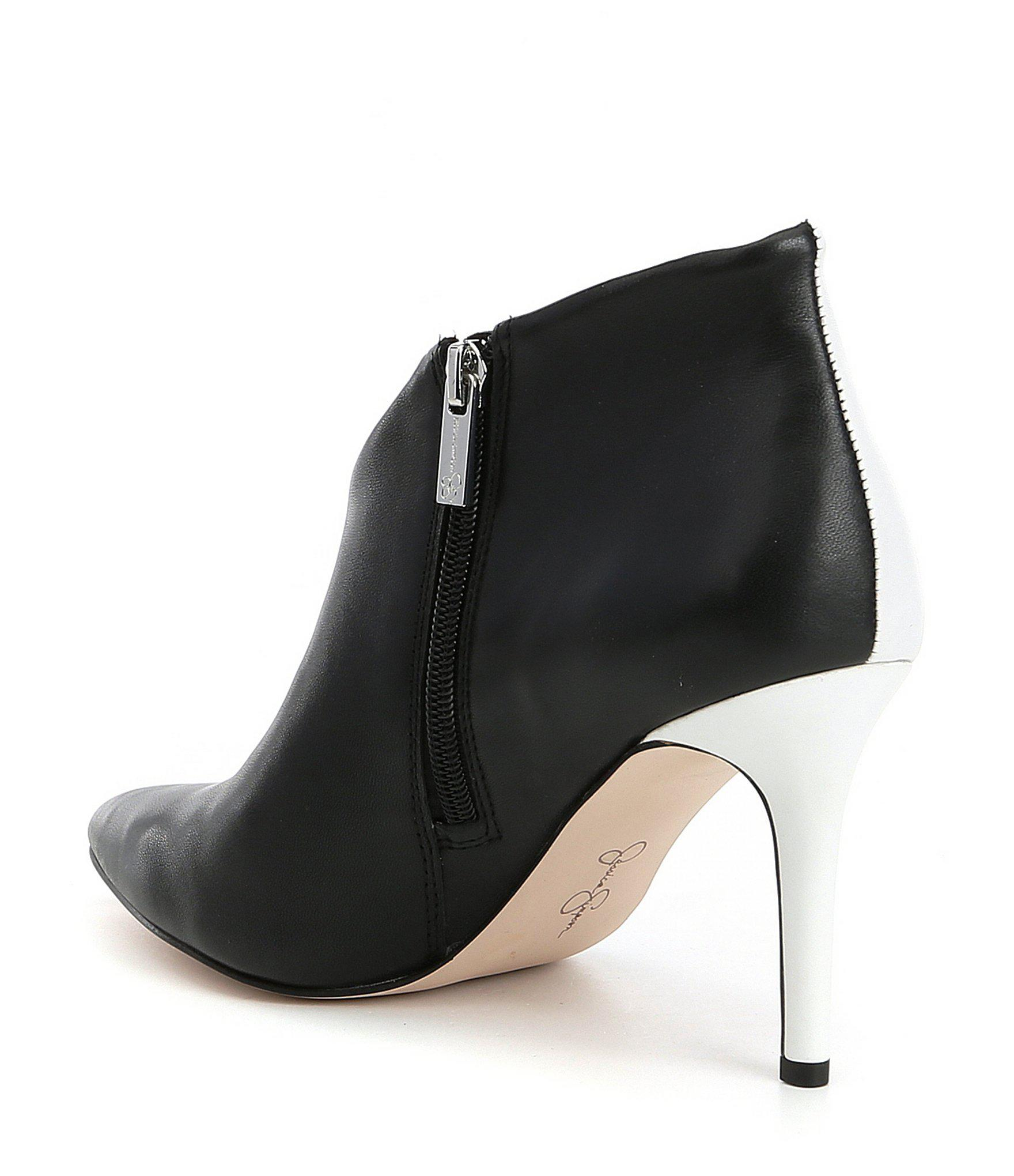 2669656dc8f Jessica Simpson - Black Layra Leather Envelope Shooties - Lyst. View  fullscreen