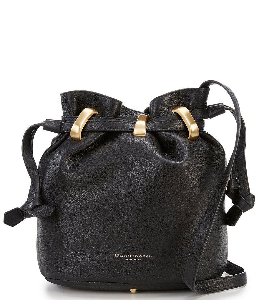 efbc9e720698 Donna Karan Virgina Bucket Hobo Bag in Black - Lyst