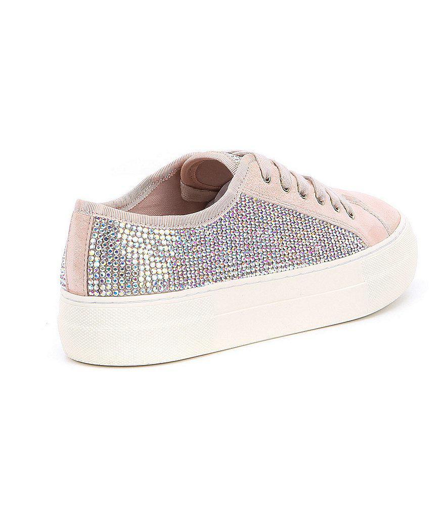 Gianni Bini Zennaa Suede Rhinestone Embellished Sneakers qMORV6PM
