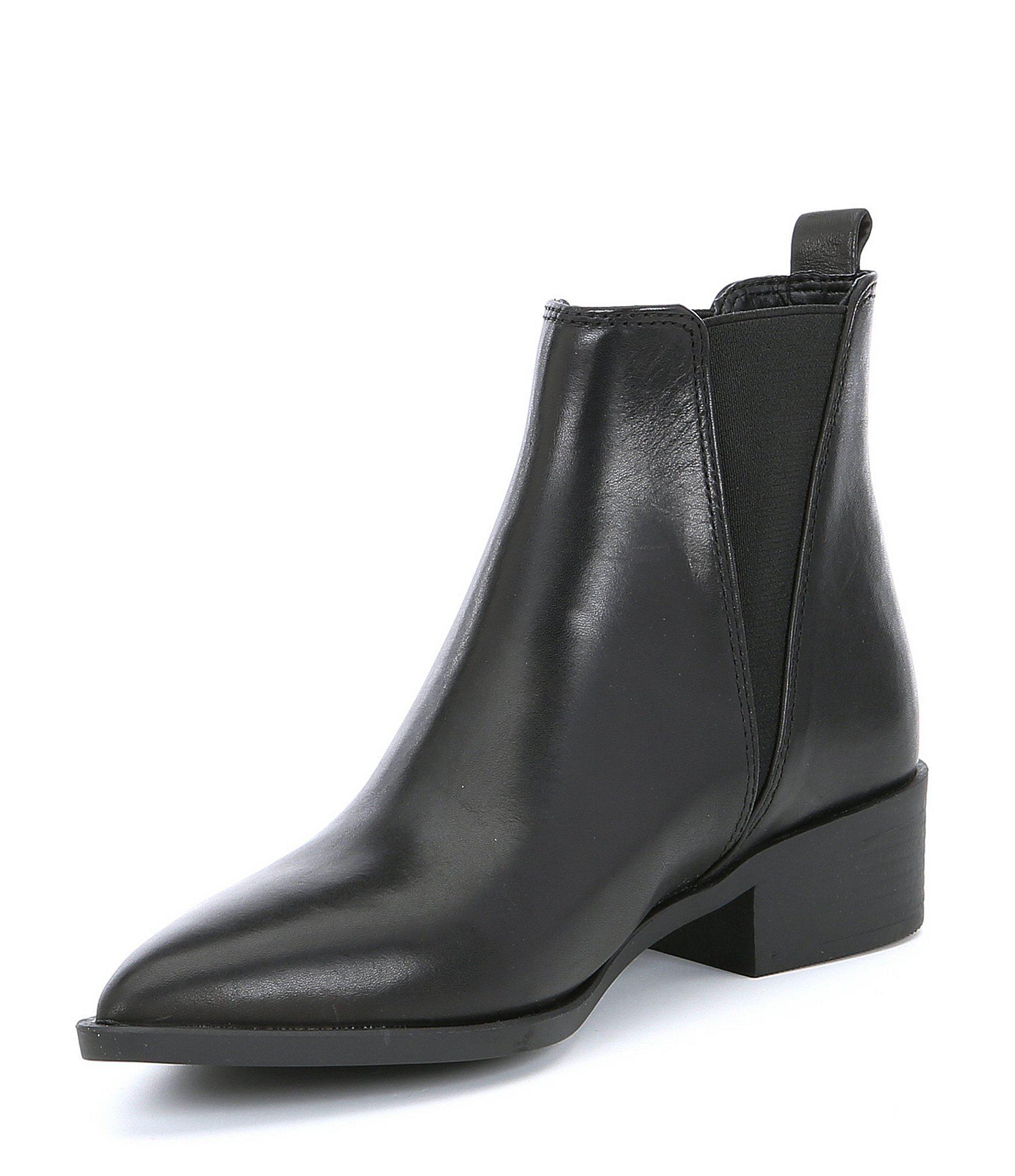 1e60f9a9ea51 Steve Madden Jerry Leather Block Heel Booties in Black - Lyst
