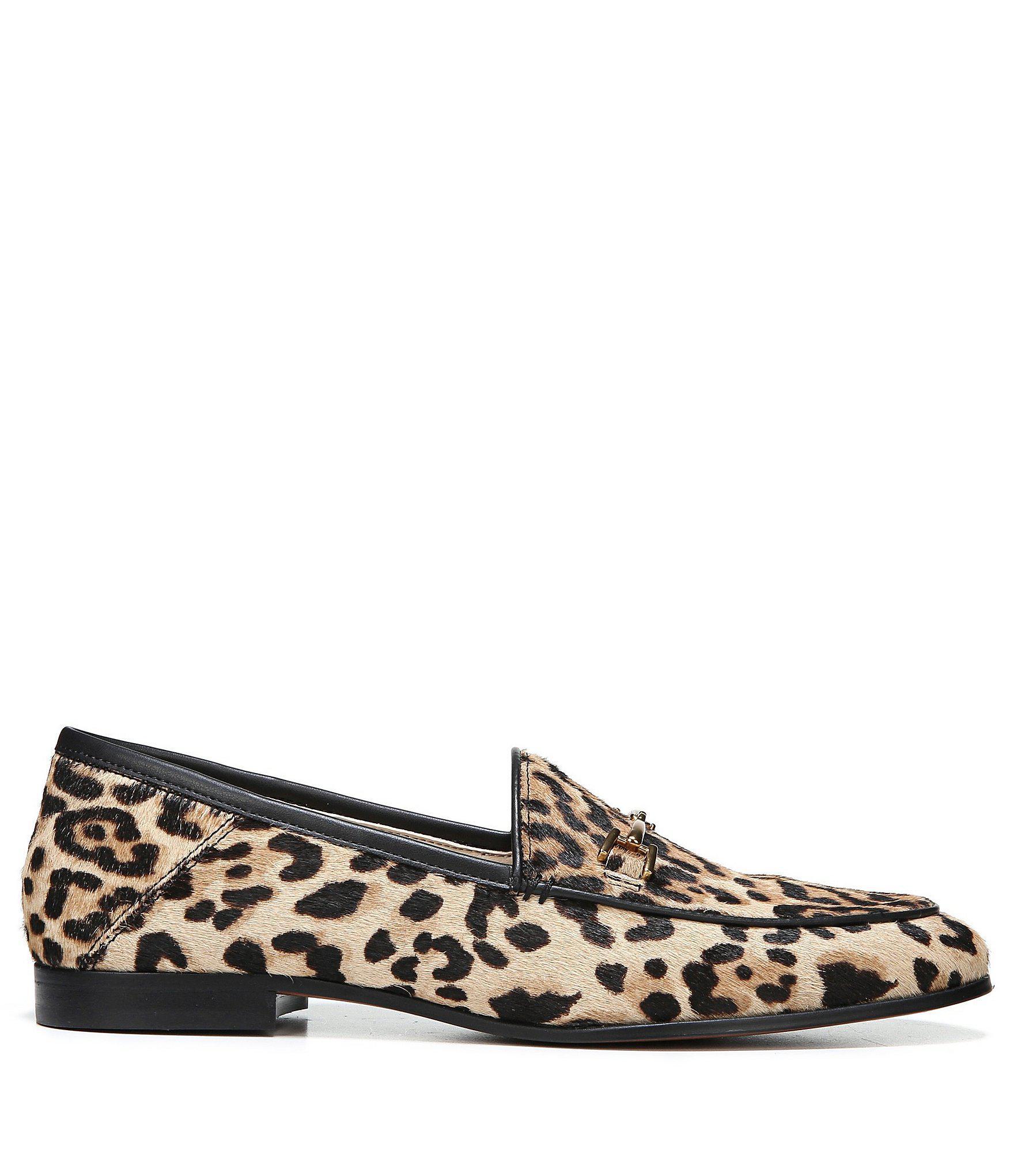 ae6369083d970 Sam Edelman - Brown Loraine Leopard Print Calf Hair Bit Embellishment Block  Heel Loafers - Lyst. View fullscreen