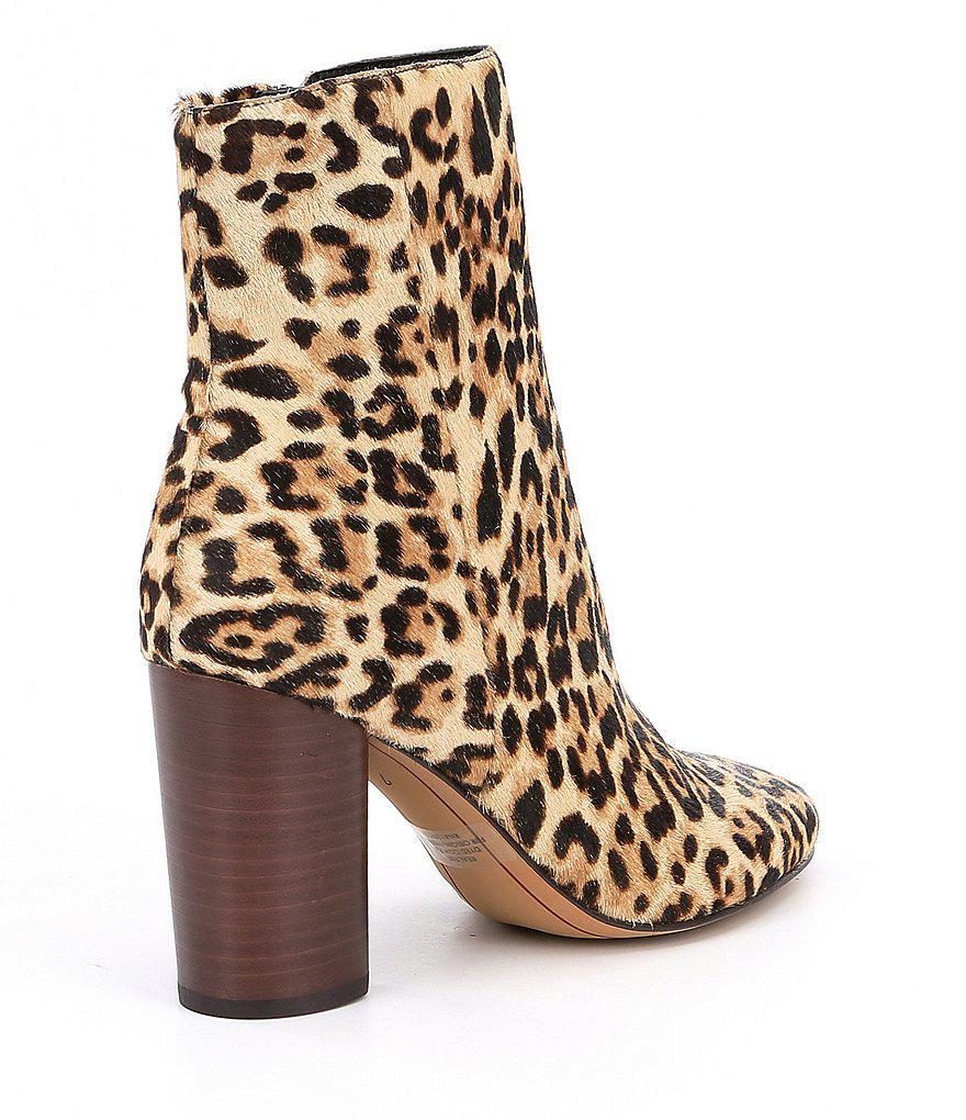 3cceb3cda766 Sam Edelman Corra Leopard Booties in Brown - Lyst
