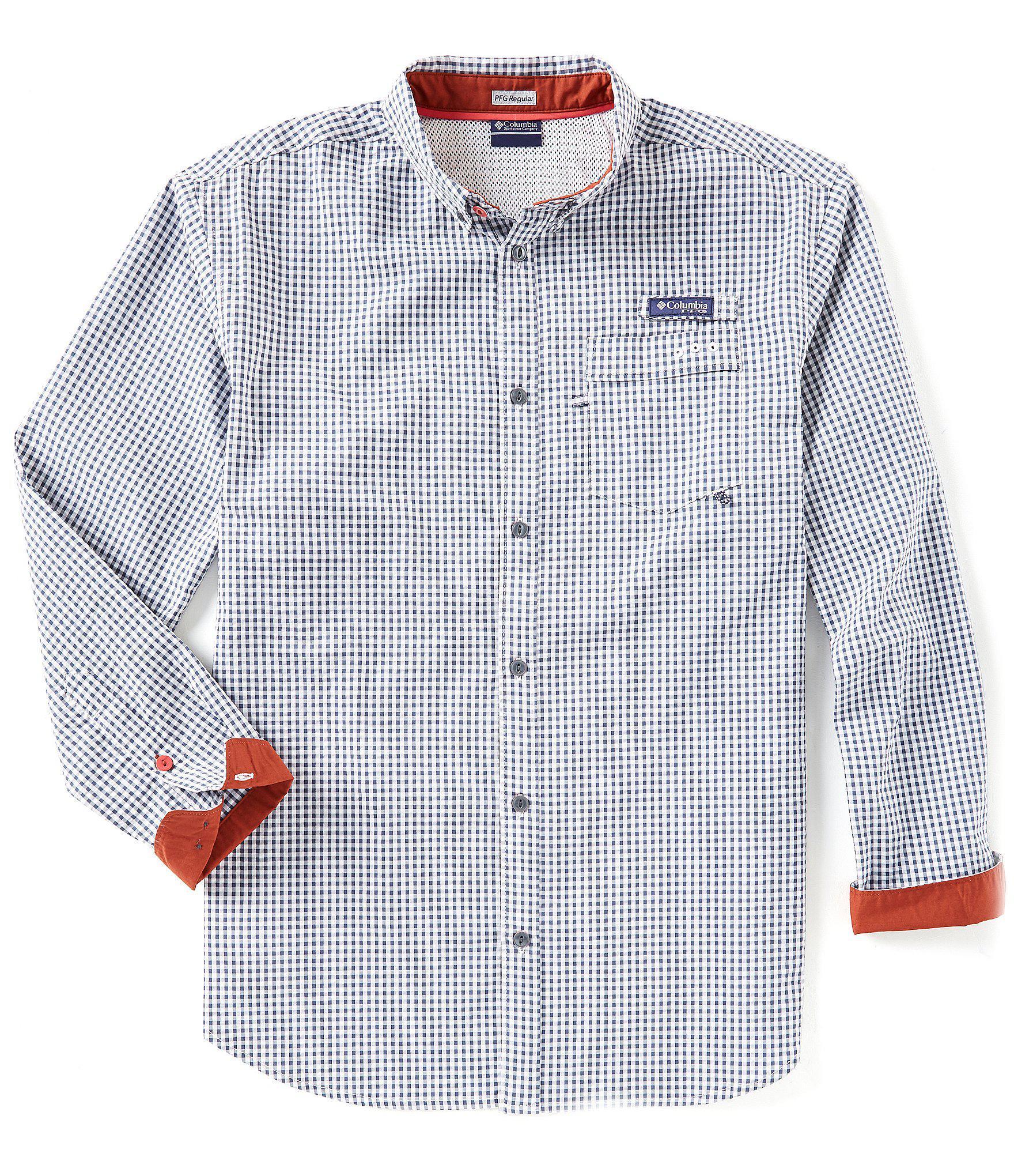 78aa86a2b1b Lyst - Columbia Pfg Super Harborside Gingham Long-sleeve Woven Shirt ...
