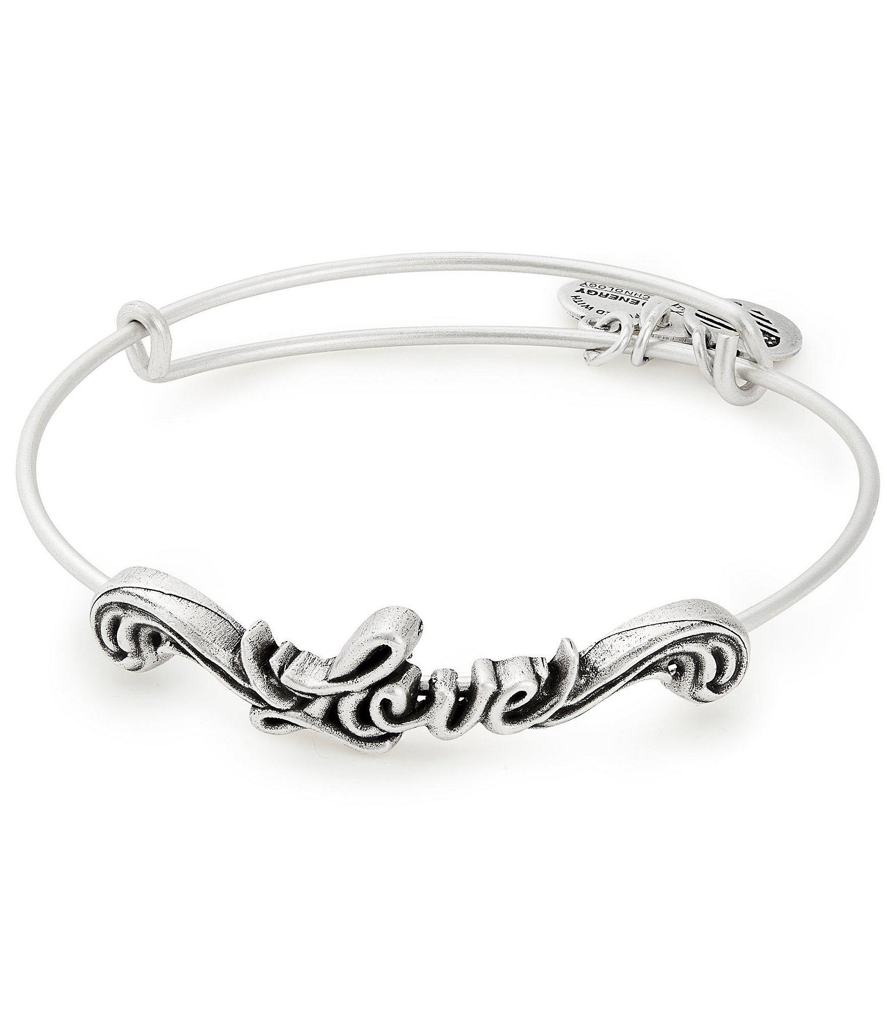 1f96e163812f6d Lyst - ALEX AND ANI Love Spiritual Armor Bangle Bracelet in Metallic