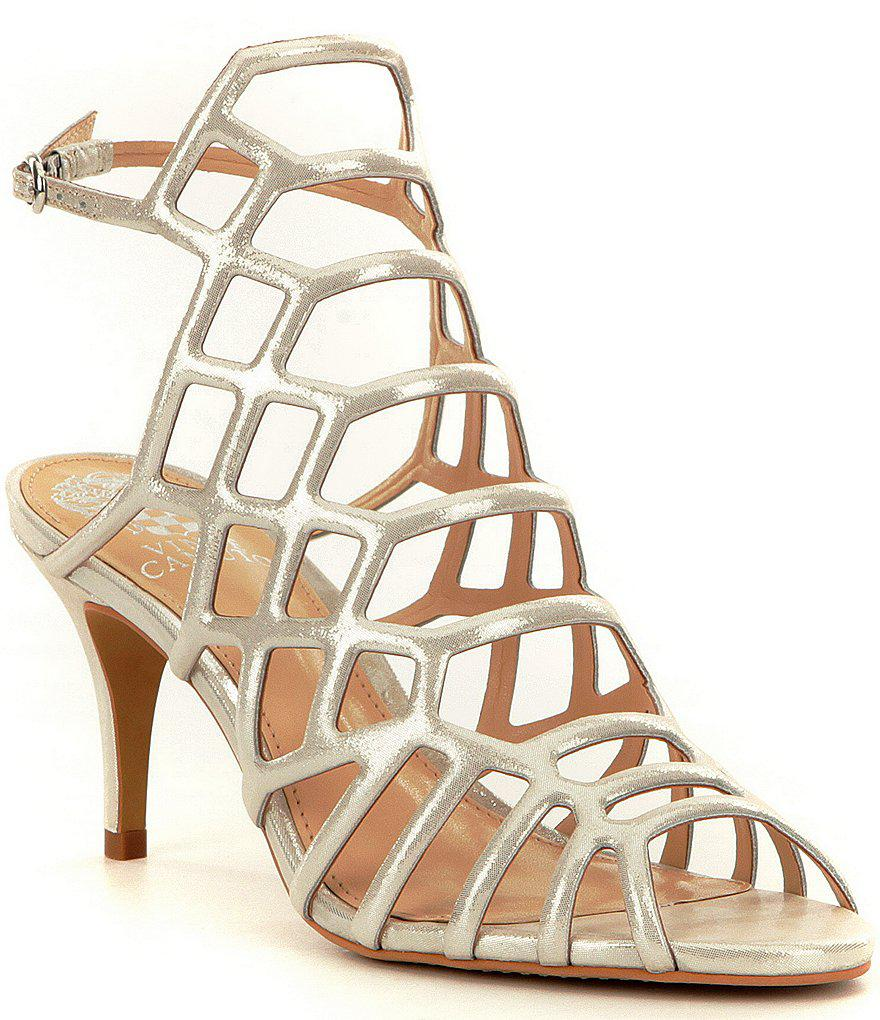 Paxton Caged Metallic Leather Sandals E3himH1Q