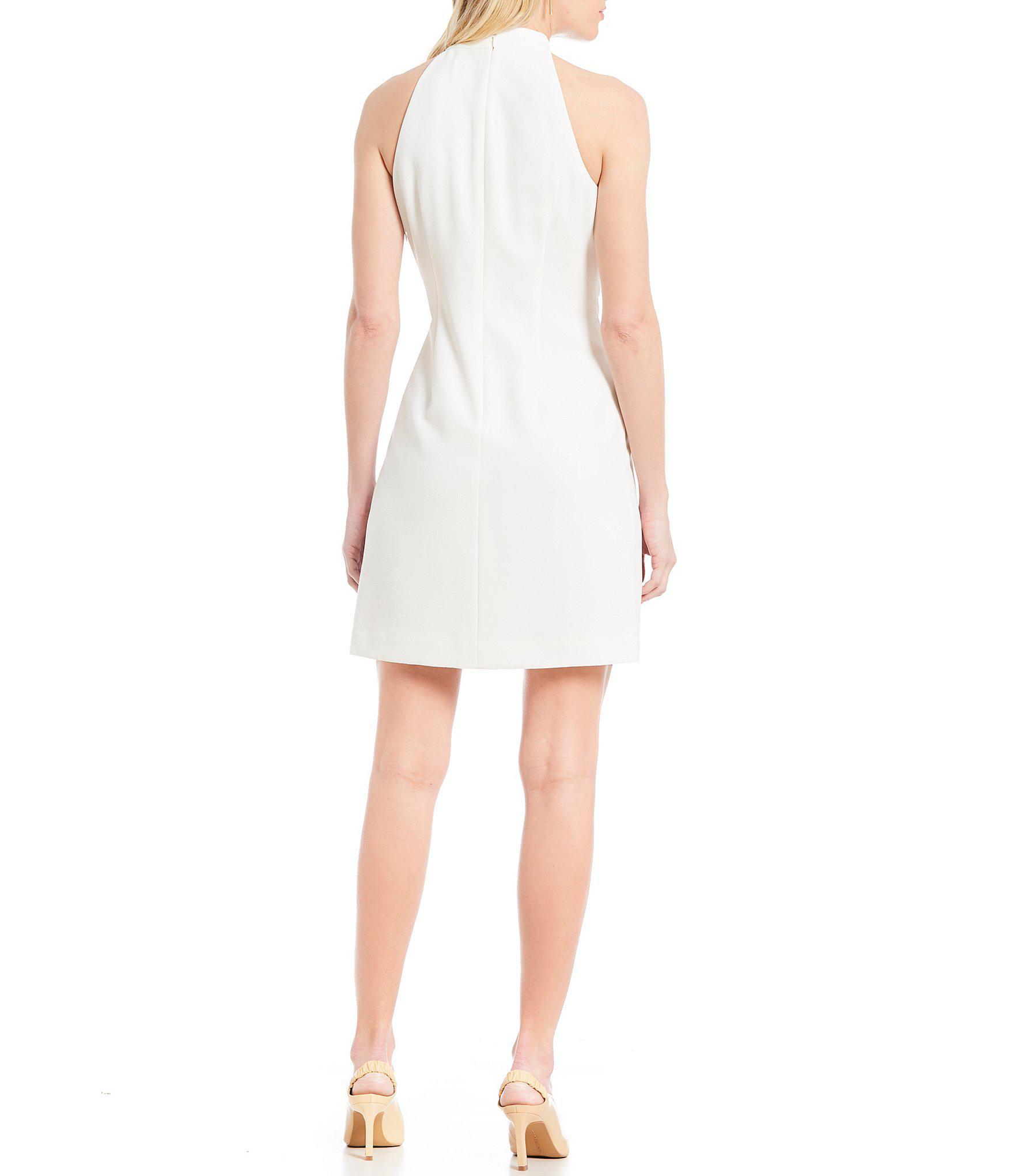 d78b9c0821c Vince Camuto - White Tie-neck Dress - Lyst. View fullscreen