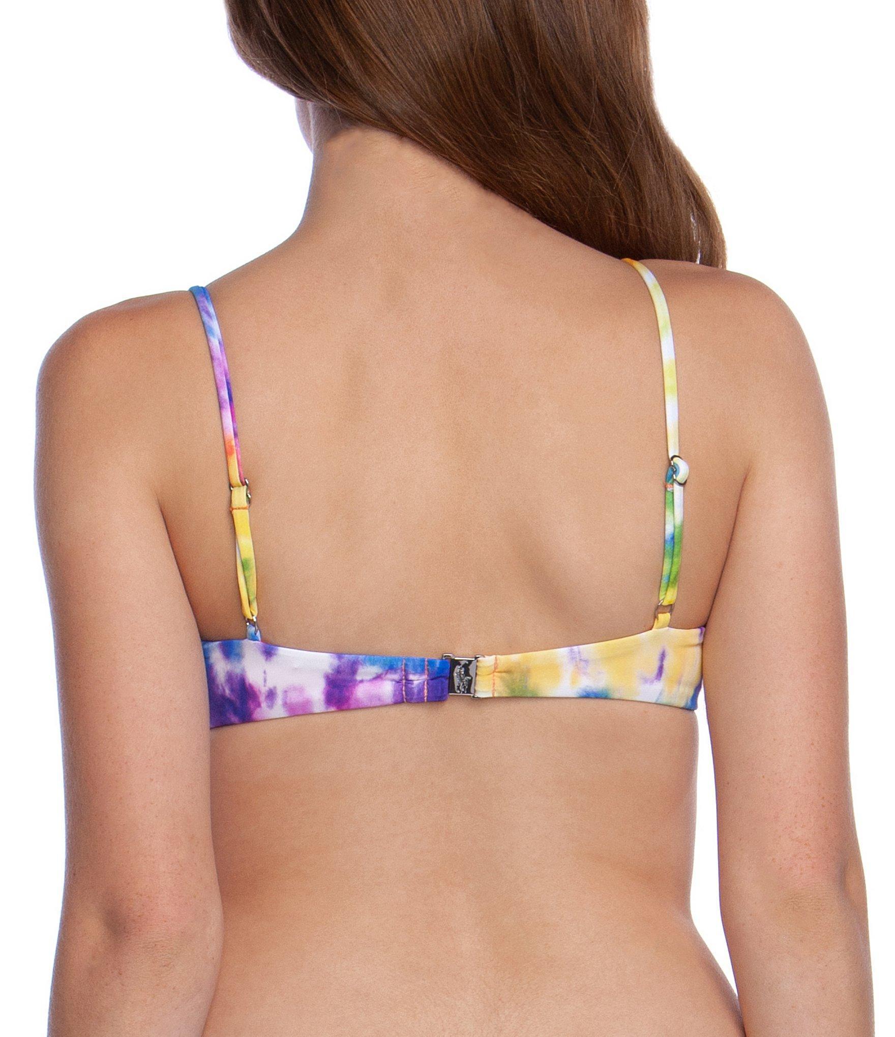 4a5d0100 Polo Ralph Lauren Spiral Tie Dye Loop Bra Swimsuit Top in Blue - Lyst