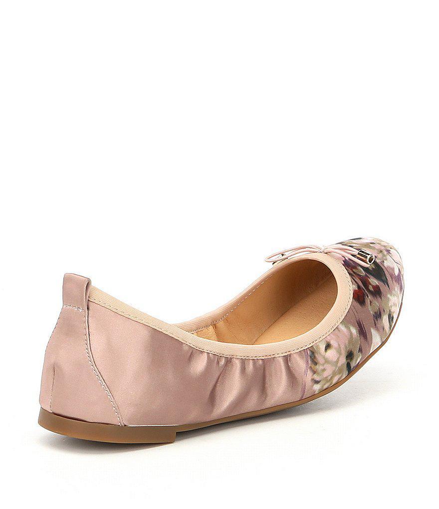 Jessica Simpson Nalan Satin Floral Ballet Flats aC8Sn