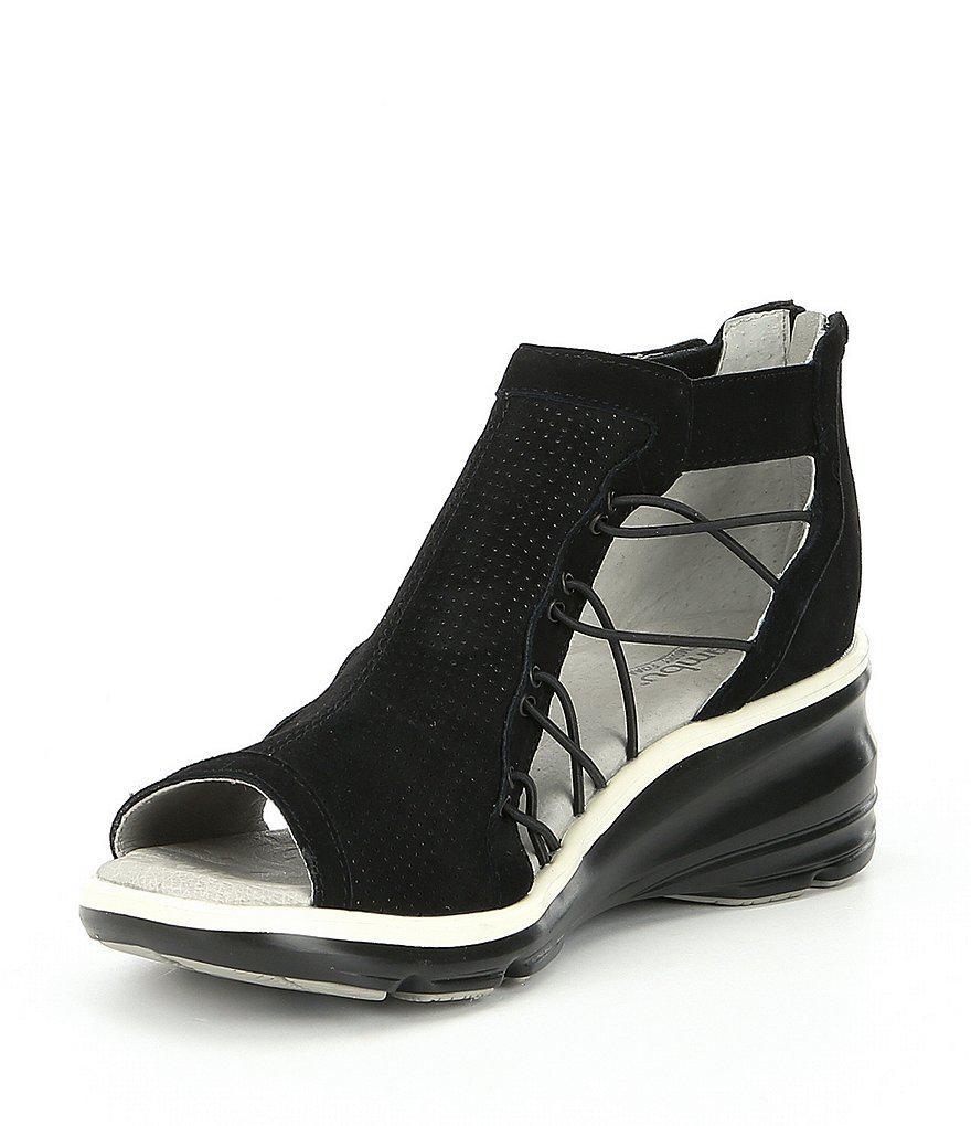 Naomi Nubuck Wedge Sandals 2wAL6Ns