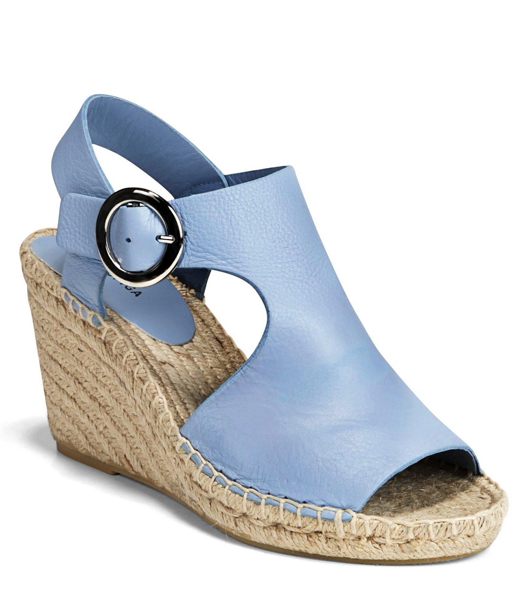 01f993474a63 Lyst - Via Spiga Nolan Espadrille Wedge Sandal in Blue