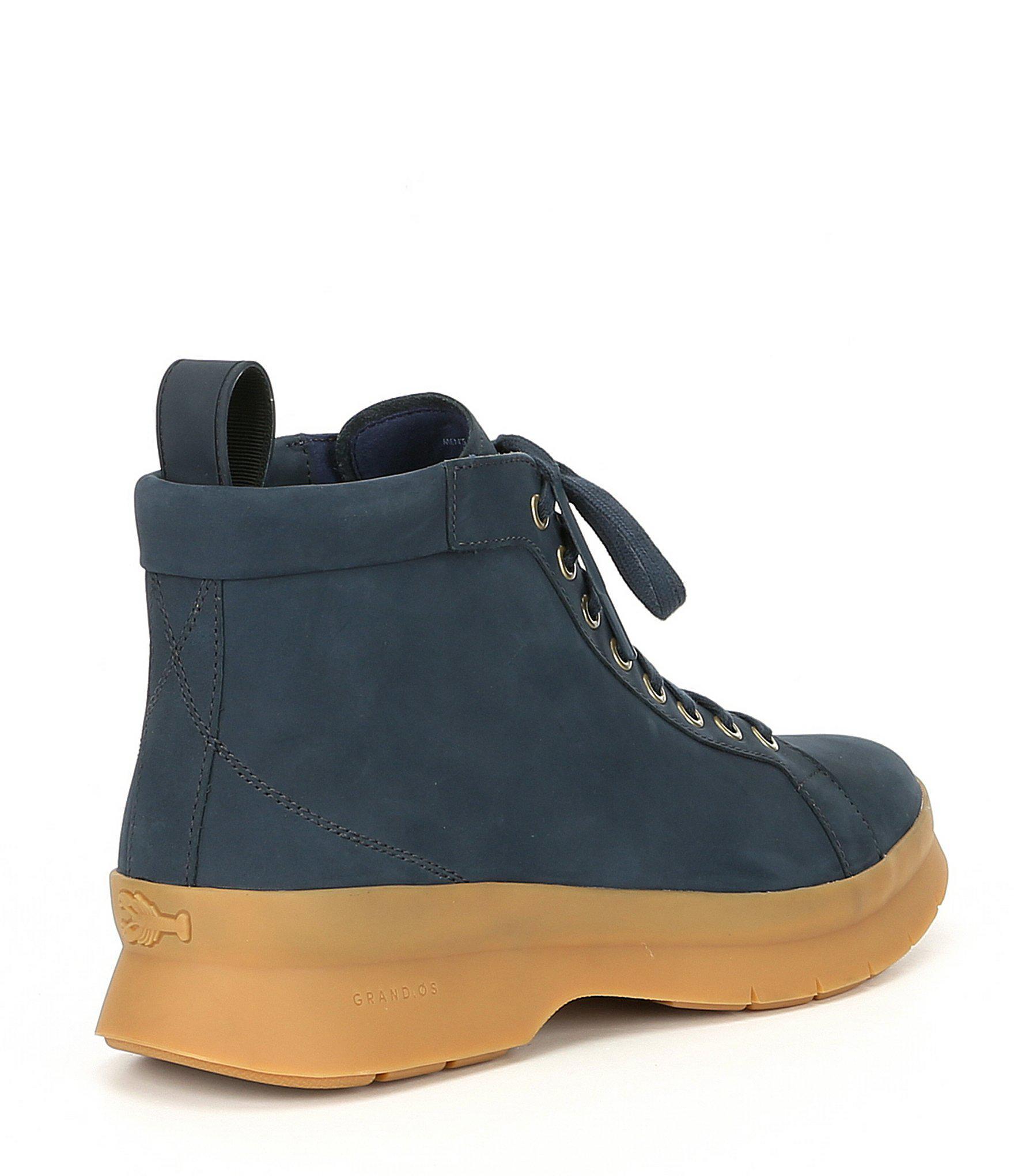 380b79c11e0 Lyst - Cole Haan Men s Pinch Utility Waterproof Chukka Boot in Blue ...