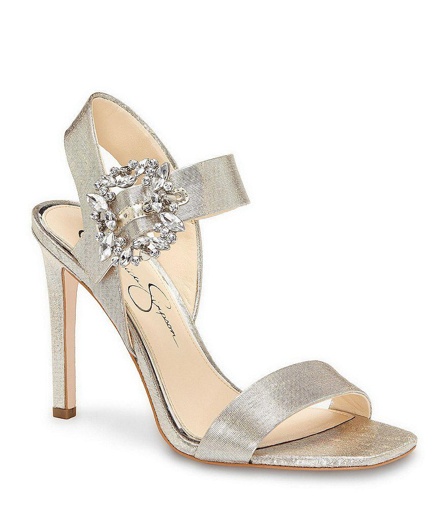 Bindy Jeweled Buckle Dress Sandals