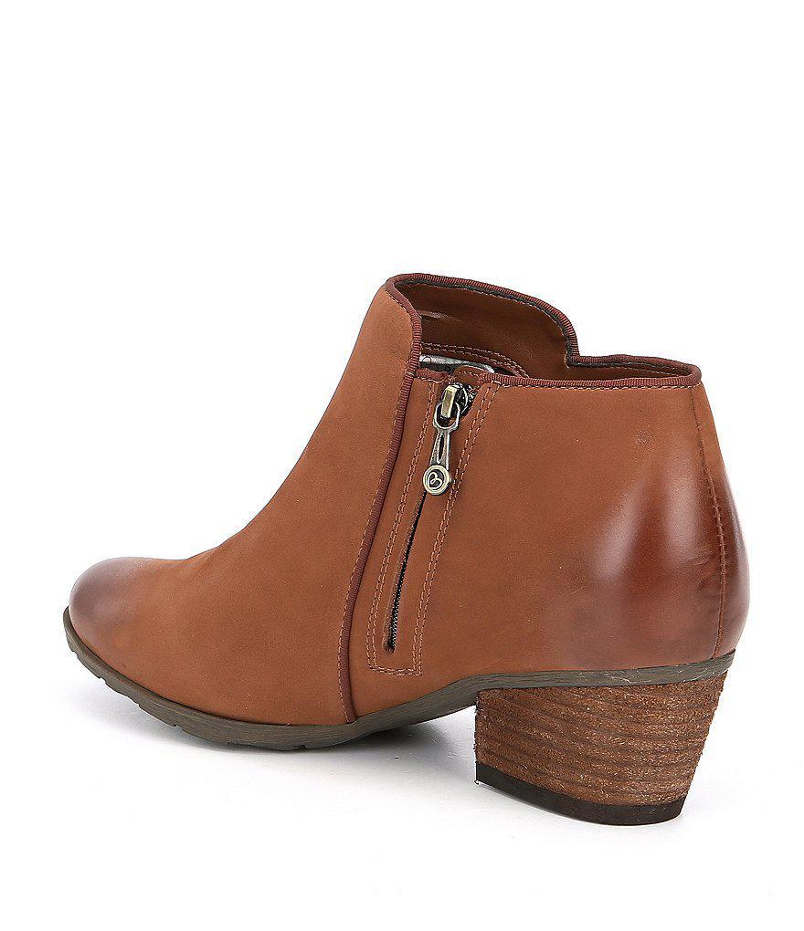 Waterproof Villa Nubuck Leather Block Heel Booties favIjAo