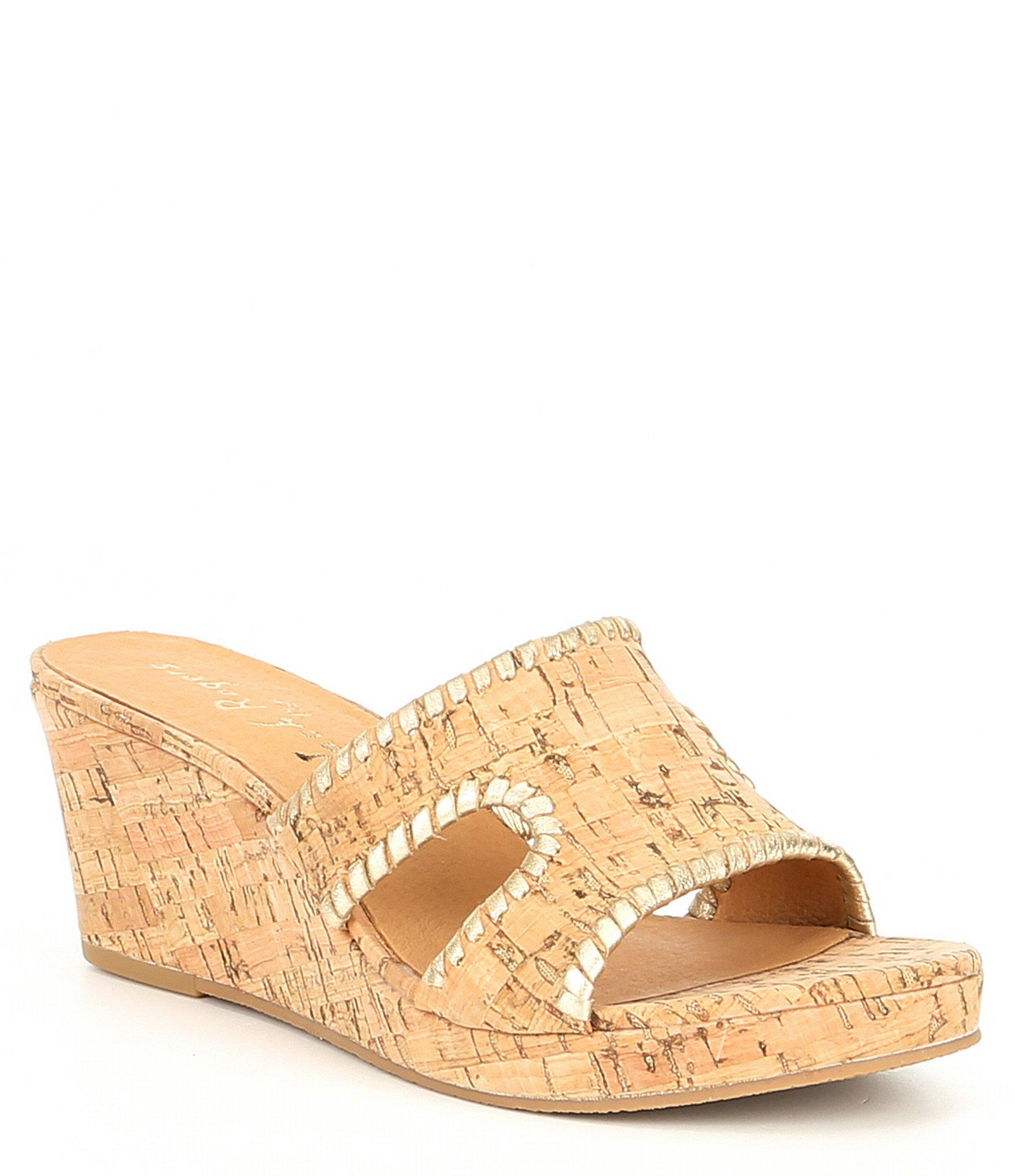 cb0535ffdedd Jack Rogers. Women s Sloane Leather And Cork Mid Wedges