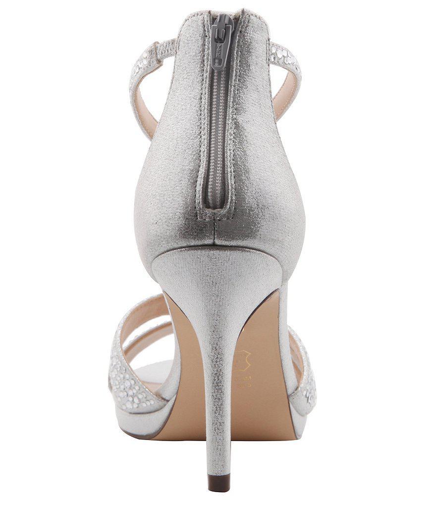 Brietta Rhinestone Embellished Fabric Dress Sandals XSfIazPcF